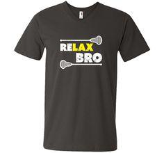 ReLAX Bro Lacrosse T-Shirt cool shirt