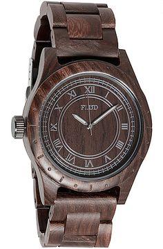 The Big Ben Watch in Dark Oak by Flud Watches. Never seen a wood watch before -- case, strap, face. Wonderful idea!
