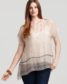 Plus Size Sloan Beaded Top by For Love and Liberty (With jeans and sandals for casual, a black pencil skirt and heels for dressy)