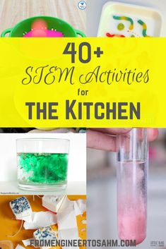 40+ STEM Activities for the Kitchen Kids Activities At Home, Steam Activities, Science Activities, Science Articles, Educational Activities, Summer Activities, Science Experiments Kids, Science For Kids, Science Fun