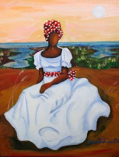 """Winter White"" by Diane Britton Dunham Black Girl Art, Black Women Art, African American Artwork, Haitian Art, African Paintings, Africa Art, Art Corner, Sewing Art, Black Artists"