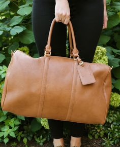 The Lacie weekender bag by Sole Society holds everything you need for fall travels.