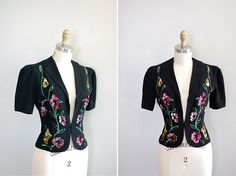 vintage 1940s Festival Lights sequin fitted jacket by DearGolden