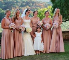 Rosewater Ballgowns | twobirds Bridesmaid Dresses | A beautiful wedding featuring our multiway, convertible dresses