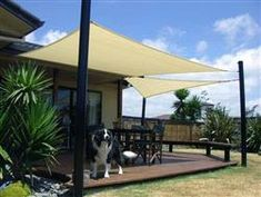 A sun shade sail is a great alternative to a gazebo, pergola or patio umbrella because it can move to different places with ease, and save money to do it Pergola Patio, Pergola Canopy, Canopy Outdoor, Pergola Kits, Backyard Patio, Pergola Plans, Screened Gazebo, Gazebo Canopy, Pergola Ideas