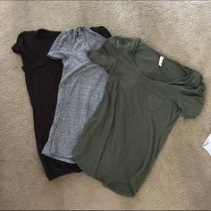 Three shirts sold as a bundle Green shirt is target, The other two came from a little boutique. Tops Tees - Short Sleeve