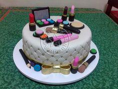 Bolo-Decorado-Make-Up/Make Up Cake