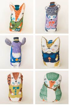 These are Plingsulli toys. They are designed by Ulrika Gustafsson, a Swedish children's book illustrator...