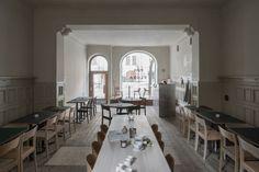 Pom & Flora, cafe on Odengatan 39 in Vasastan, Stockholm. Interior design by Emma Olbers.
