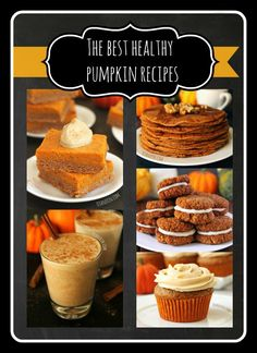 Can't get enough of pumpkin dishes, but struggle with having more than just a pumpkin pie recipe? SO many recipes and many of them gluten free! The Best Healthy Pumpkin Recipes - Texanerin Baking Healthy Desserts, Delicious Desserts, Dessert Recipes, Yummy Food, Healthy Recipes, Fall Desserts, Skinny Recipes, Yummy Recipes, Healthy Food