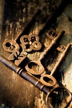 I have always loved old keys. My next Medieval novel has a girl who collects them.
