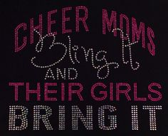 Hey, I found this really awesome Etsy listing at https://www.etsy.com/listing/184518025/rhinestone-cheer-mom-tshirt-bling-cheer