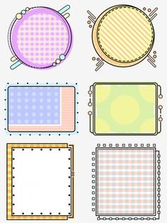 Easy Frame, Round Frame, Background Banner, Geometric Background, Geometric Box, Drawing Frames, Recipe Scrapbook, Simple Cartoon, Notes Design