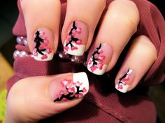 Cherry Blossom Nails  Credits: CutePolish