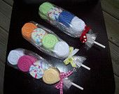 Wash Cloth Lollipop Four High Baby Shower Gift