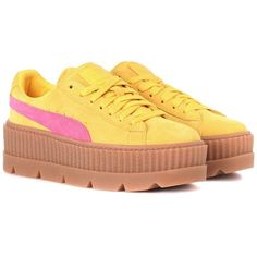 Fenty by Rihanna Creeper Suede Sneakers (10.615 RUB) ❤ liked on Polyvore  featuring shoes 480071d77