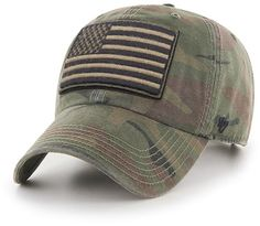 93c5ca45 Operation Hat Trick Movement Camo Sandalwood 47 Brand Adjustable USA Flag  Hat Camo Hats, Detroit