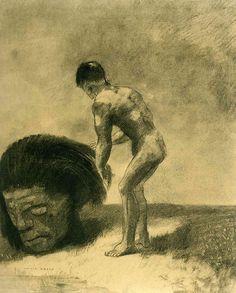 David and Goliath - Odilon Redon - WikiArt.org