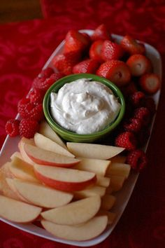 Lime Fruit Dip - Perfect for your next holiday party! This recipe has only 4 ingredients and can be prepared in just 5 minutes!