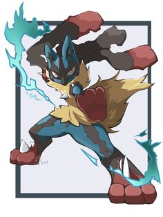 lucario-theaurapokemon: Artist: 夏月巧 via pixiv Mega Lucario, Lucario Pokemon, Pokemon Oc, Pokemon Fan Art, Cool Pokemon, Pokemon Stuff, Pokemon Images, Pokemon Pictures, Best Pokemon Ever