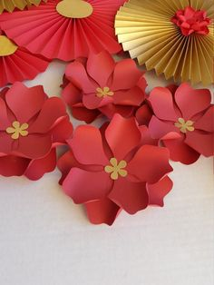 Paper Flower Template/Pattern, DIY Paper Flower - SVG Cut File and PDF - Do you want to grace your event with gorgeous paper flowers but youre on a budget? Not to worry, yo - Chinese New Year Crafts For Kids, Chinese Crafts, Chinese New Year Decorations, New Years Decorations, Flower Svg, Flower Template, Paper Flower Backdrop, Paper Flowers, New Year's Crafts