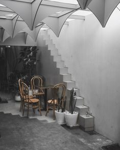 Cafe Interior, Coffee Shop, Stairs, Tea, Business, Home Decor, Coffee Shops, Loft Cafe, Stairway