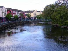 Garavogue River in Sligo.    I have so many dreams at night where I am crossing this bridge.