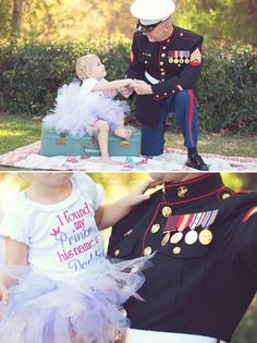 Daddy's girl. Photos by KM Phillips Photography. Oceanside Ca.  #Father daughter pictures #hero  #familypictures #pictures #poses #usmc #marines #daddysgirl #father #daughter #marine #pictureideas