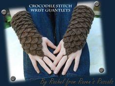 Crocodile wrist guantlets