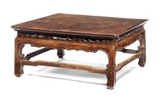 A large square nanmu table 17th/18th century