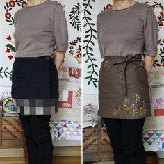 왼쪽은 추운 날 바지 위에 덧 입으면 너무 따뜻한 퀼트 랩 스커트. 오른 쪽은 카페 앞치마. 잊고 있었던 두 아이... 올 겨울 친하게 지내보자꾸나.😄 The left one is a quilt wrap-skirt, and the right one is an embroidery apron. #퀼트#퀼트랩스커트#퀼트스타그램#허리앞치마#자수앞치마#자수타그램#quilt#quiltwrapskirt#embroidery #embroideryapron