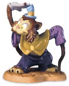 WDCC Disney Classics Pinocchio Gideon Feline Flunky #WDCCDisneyClassics #Art. Gideon is part of the fourth sculpture set in the Walt Disney Disney Duo Series. 2003 Production Only.