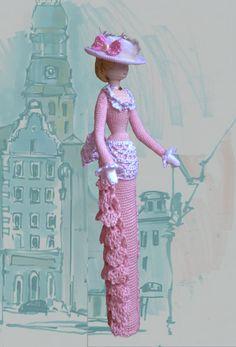 Cloth Art doll Rag doll Decorative crochet doll by ViDollStudio