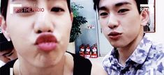 GIVE MARK A KISS~ (FT. JR) is it weird that I kissed him through my screen?
