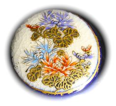 Satsuma Pottery Button