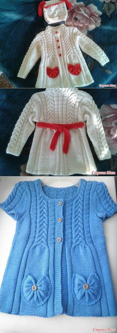 baby knitting patterns cable knit elizabeth coat free pattern knit baby sweater o - PIPicStats Baby Knitting Patterns, Coat Patterns, Knitting For Kids, Knitting Designs, Baby Patterns, Hand Knitting, Knit Baby Sweaters, Knitted Baby Clothes, Baby Coat