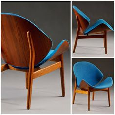 The Shell chair designed by Hans Olsen for N.A. Jorgensen, 1955. Click on the image to see more beauties like this.
