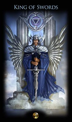 Zai Impassioned Logician The archetype of the King of Swords is the element of Air which is Intelliect and logic and yet the King is the protector of the realm and thus of all the people as well - Xyy