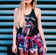 90's grunge Rolling Stones outfit created by YouTuber Laurdiy