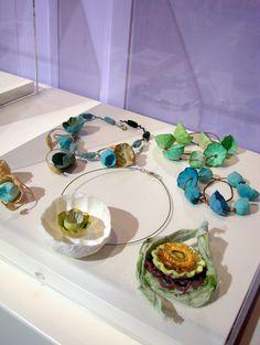 Eco gioielli di carta in stile boho ad Abilmente 2014, atelier della Sposa, by Alessandra Fabre Repetto - Boho style eco jewelry in Abilmente Vicenza