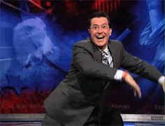 When he and Jimmy Fallon had this epic dance-off.   22 Times Stephen Colbert Was The Perfect Man