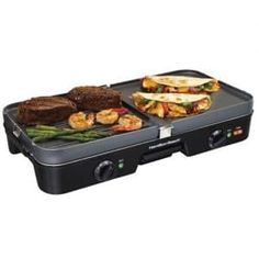 Hamilton Beach Electric Indoor Grill with Non Stick Plates, Cooking Surface, Silver. Enjoy delicious grilled foods year-round with the Hamilton Beach Indoor Grill. Plus, the convenient slide out drip tray is dishwasher safe. Cooking Appliances, Small Kitchen Appliances, Kitchen Gadgets, Kitchen Stuff, Kitchen Items, Kitchen Utensils, Small Kitchens, Cooking Utensils, Kitchen Tools
