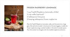 Frozen Raspberry Lemonade using Tropicana Trop50