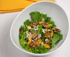 FG Salad with Grilled Peaches and Blue Cheese 2