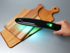 Instant-Sanitizing Kitchen Wand. Uses nanometer light wave to destroy 99.9% of bacteria, viruses, and germs.