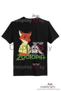 #cosplaysky #Tshirt #zorro # nick #coneja #Judy #zootopia #zootropolis Zootropolis (Zootopia) Judy Hopps y Nick Coneja y Zorro Camiseta Cosplay_1