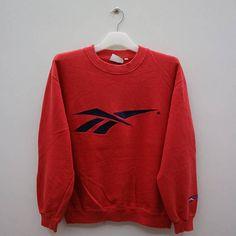 a3d0ebce5c687 REEBOK Vintage Logo grand Sweat-shirt rouge taille M