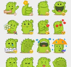 Kaktus Stickers Set | Telegram Stickers