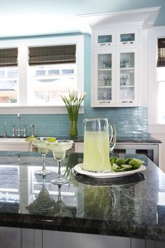 Love the back splash!!! Great idea to take it to the ceiling. Sturman Kitchen (Cultivate.com)