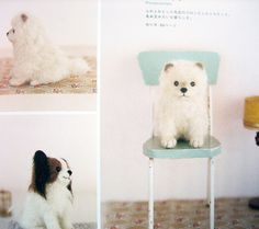 9784277563185 needlefelted small dogs, pomeranian and papillion | Flickr - Photo Sharing!
